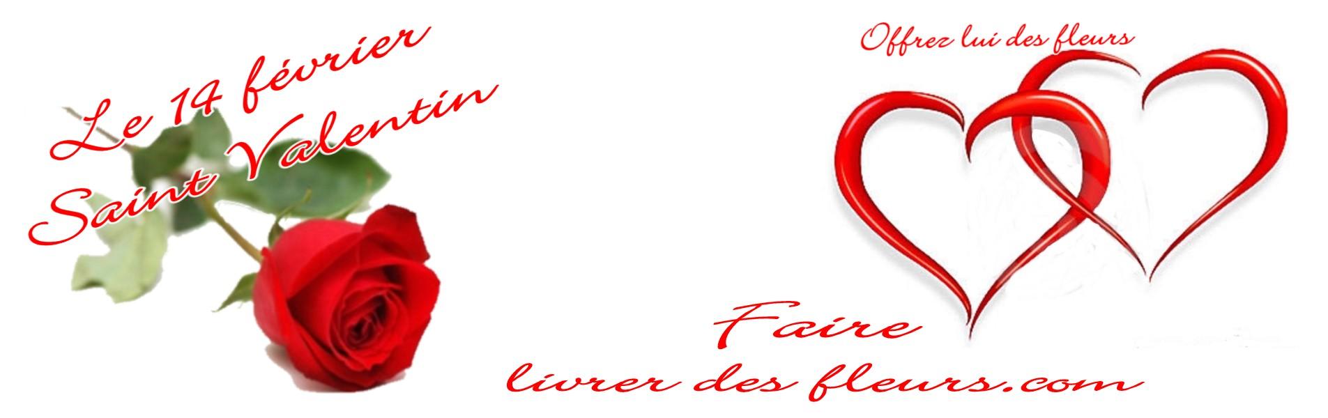 LIVRAISON FLEURS SAINT VALENTIN